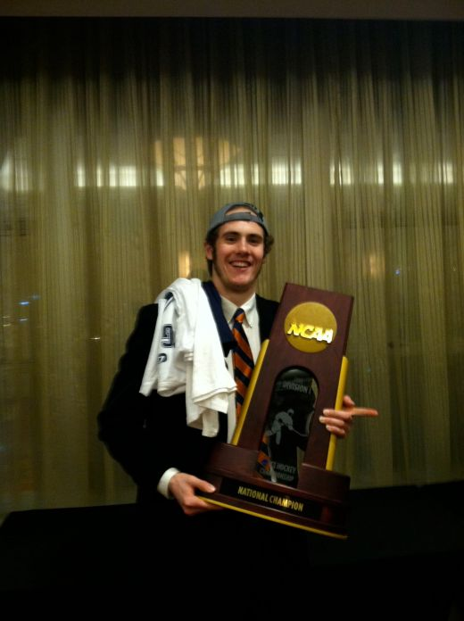 Rob O'Gara in 2013 after Yale won the NCAA championship (photo courtesy Rob O'Gara)