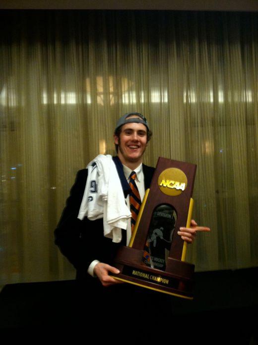 Rob O'Gara in 2013 after Yale won the NCAA championship (photo courtesy Rob O'Gara)