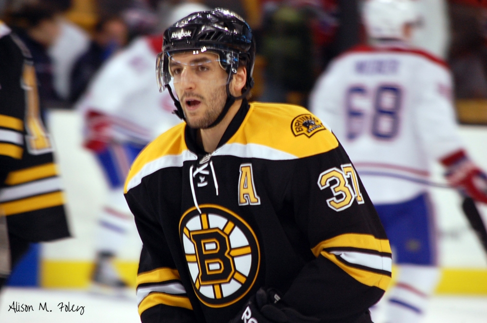 "Patrice Bergeron is Boston's ""Mr Everything"" (Photo courtesy of Alison M. Foley)"