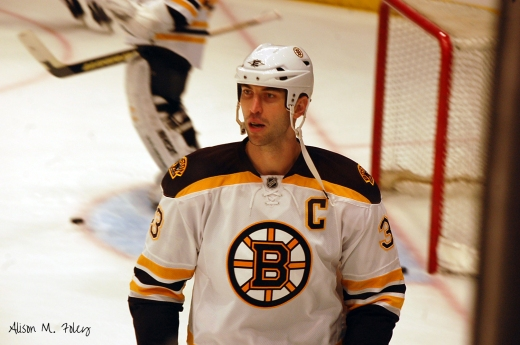 Zdeno Chara returns for his tenth season as the captain of the Boston Bruins (photo courtesy of Alison M. Foley)