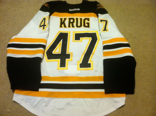 Torey Krug 12-13 Playoffs Away Back