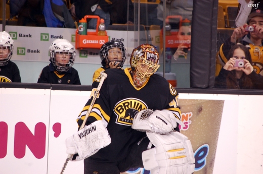 Tuukka Rask came up big for the B's in Brooklyn (Photo courtesy of Alison M. Foley)