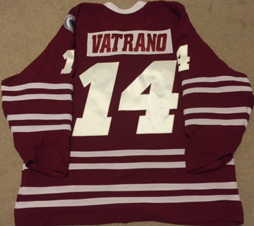 Frank Vatrano played one game with UMass in 2013-14 before switching to No. 13 in 2014-15